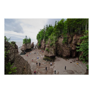 Hopewell Rocks Low Tide Canada Poster