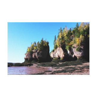 Hopewell Rocks with Foliage Canvas Print