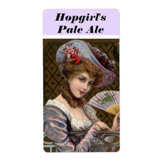 Hopgirl Hopgirl's Pale Ale Pretty Woman Beer Label