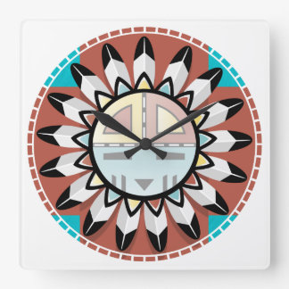Hopi Kachina Mask Clock