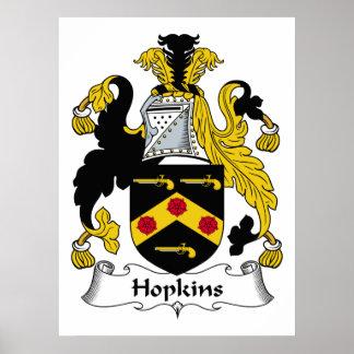 Hopkins Family Crest Poster