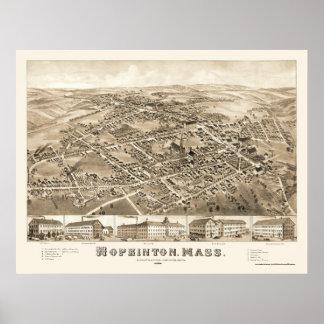 Hopkinton, MA Panoramic Map - 1880 Poster