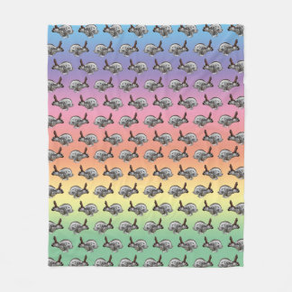 Hopping Along Frenzy Fleece Blanket (Rainbow)