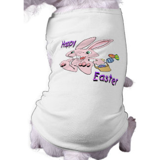 Hopping Easter Bunny Pet T Shirt