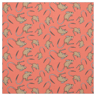 Hopping mouse orange brown fabric