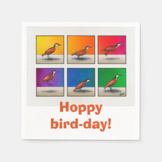 Hoppy bird-day! disposable napkins