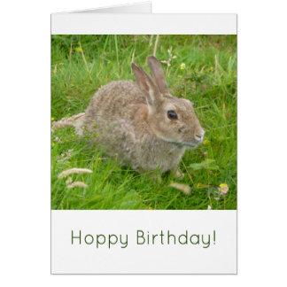 Hoppy Birthday! A cute bunny rabbit birthday card