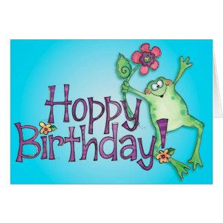 Hoppy Birthday Frog - Greeting Card