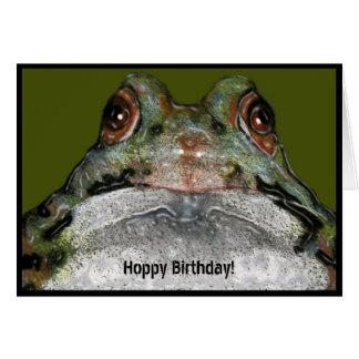 Hoppy Birthday From Across The Pond: Frog Card