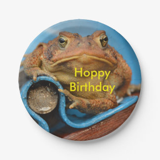 Hoppy Birthday Toad 7 Inch Paper Plate