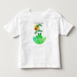 Hoppy birthday toddler t-shirt