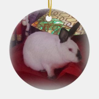 'Hoppy' Californian Christmas Round Ceramic Ornament