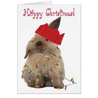 Hoppy Christmas Bunny Card