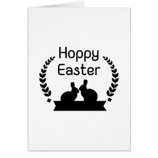 Hoppy Easter Bunny Funny Kids Women Men Card