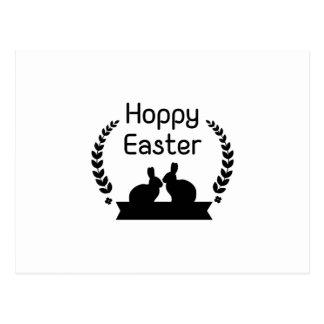 Hoppy Easter Bunny Funny Kids Women Men Postcard