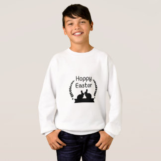 Hoppy Easter Bunny Funny Kids Women Men Sweatshirt