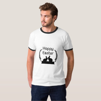 Hoppy Easter Bunny Funny Kids Women Men T-Shirt