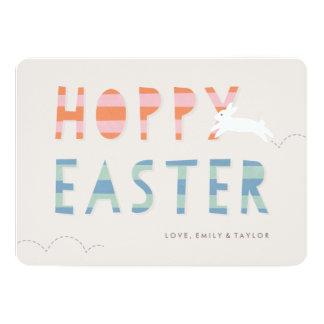 "Hoppy Easter Easter Card - Bubblegum 5"" X 7"" Invitation Card"