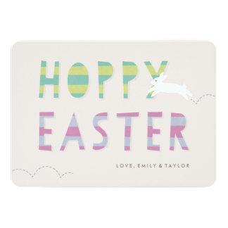 "Hoppy Easter Easter Card - Lime 5"" X 7"" Invitation Card"