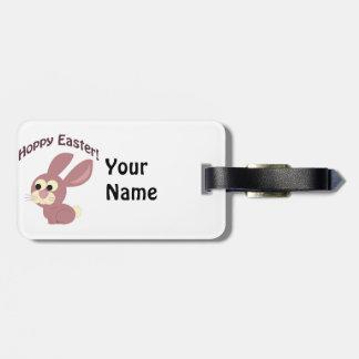 Hoppy Easter Pink Bunny Bag Tag