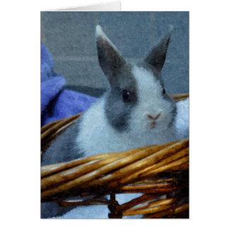 Hoppy Easter Watercolor Bunny Card