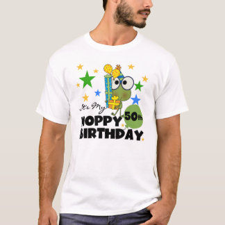 Hoppy Frog 50th Birthday T-shirt