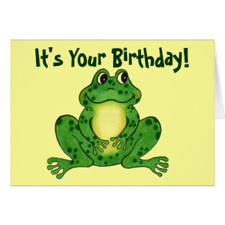 Hoppy Frog - Children's Birthday Card