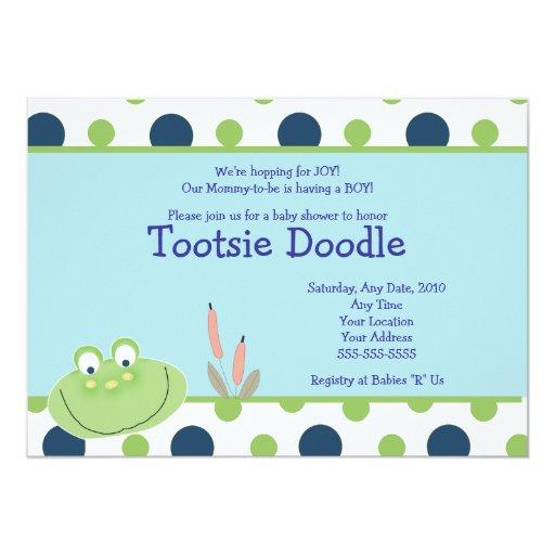 HOPPY FROG Froggy Baby Shower Invitation