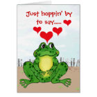 Hoppy Frog Valentine's Day - Card
