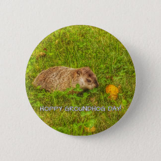 Hoppy Groundhog Day! button