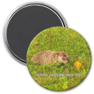 Hoppy Groundhog Day! magnet