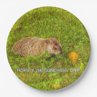 Hoppy Groundhog Day! napkins Paper Plate