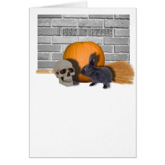 hoppy halloween card