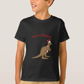 Hoppy Holidays! christmas Kangaroo T-Shirt