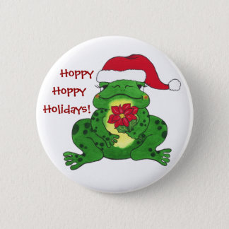 Hoppy Holidays Frog - Customizable Pin