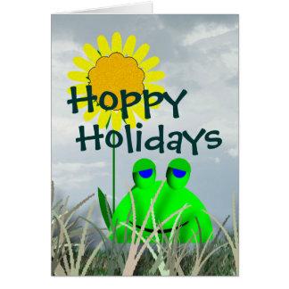 Hoppy Holidays Greeting Card