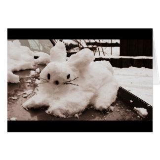 Hoppy Holidays Snow Bunny Card