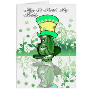 Hoppy St. Patrick's Day Birthday, Saint Patrick's Card