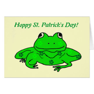 Hoppy St. Patrick's Day! Frog Card