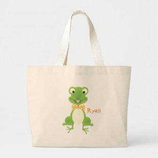 Hoppy the Frog Large Tote Bag