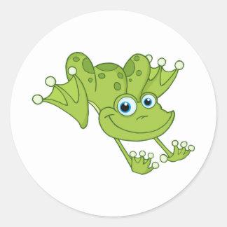 Hoppy the Happy Frog Classic Round Sticker
