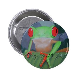 Hoppy to Meet You Button