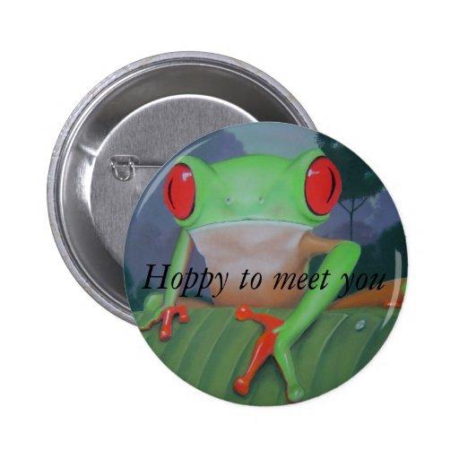 Hoppy to Meet You Pinback Button