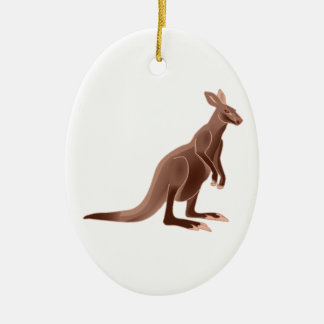 Hoppy Trails Ceramic Oval Ornament