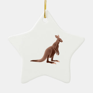Hoppy Trails Ceramic Star Ornament