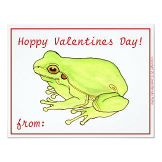 "Hoppy Valentines Day 4.25"" X 5.5"" Invitation Card"