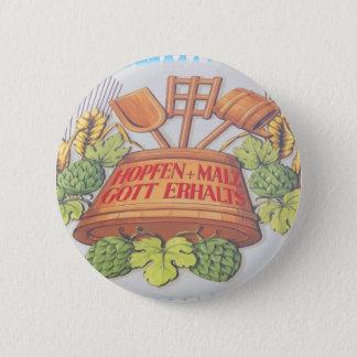 Hops and Malt 2 Inch Round Button