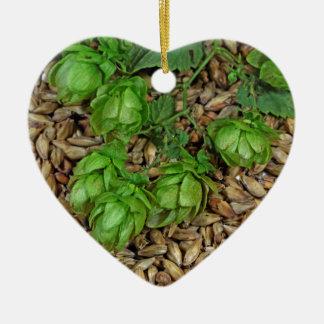 Hops and Malt Ceramic Ornament