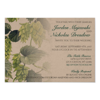 Hops, Beer Wedding Collection Card