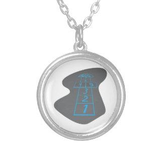 Hopscotch Silver Plated Necklace